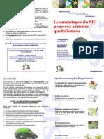 Plaquette SIG FloraGIS