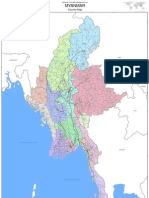 Myanmar Country Map Oversize (36x57)