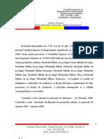 Raportul Consiliului Superior al Magistraturii (CSM) privind activitatea lui Dan Voinea
