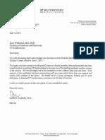 Dr. Daniel Podolsky's Acceptance Letter Regarding Kern Wildenthal's Retirement_June 2012