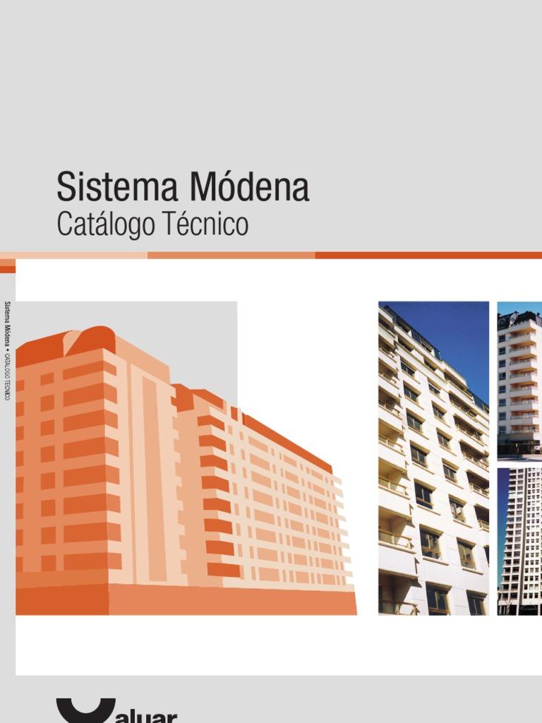 Catalo tecnico - Carpinteria de aluminio - Modena