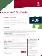 ISO14001 Service Sheet BD