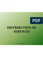 10. Distribution of Services