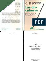 Snow, C. P. - Las Dos Culturas