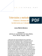 Martin Barbero Television y Melodrama