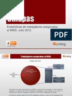 Estadísticas IMSS Julio 2012