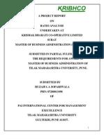Ratio Analysis at Krishak Bharat Co-Operative Limited by Huzifa Sopariwala