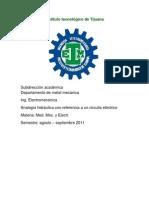 Analogía hidráulica con referencia a un circuito eléctrico