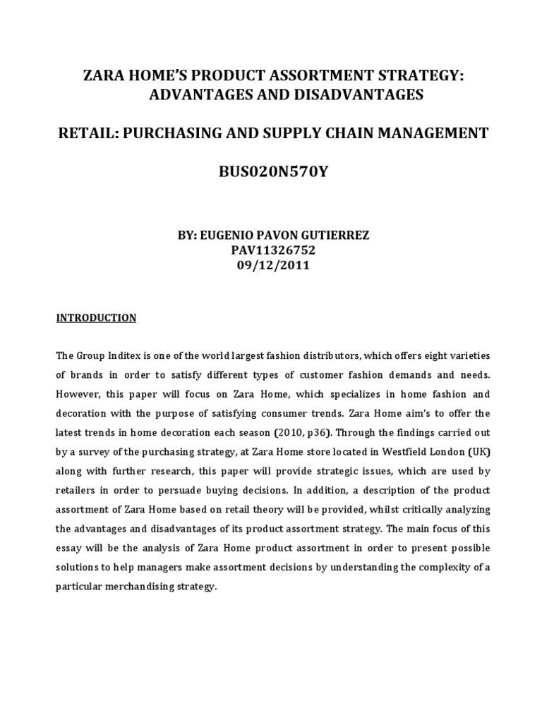 3.Zara Home Product Assorment.   Retail   Strategic Management