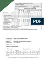 CO 006 Sixth Semester Curriculum