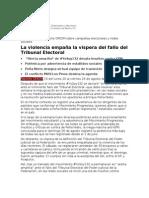 Reporte OMCIM 19 Lunes 27 de Agosto de 2012