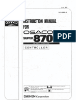 Osacom 8700 Controller (Same as Inst &Amp; Maint (1l4000b-9)