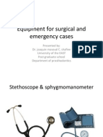 Dr. Joaquin Masoud C. Shafiee-surgery Equipment in emergency case