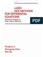 Generalized Difference Methods for Differential Equations - R. Li, Z. Chen, W. Wu