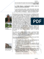 Site selection for City of Peterborough public square exhibits A and B