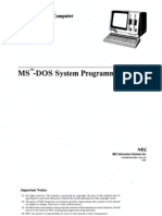 NEC APC MS-DOS System Programmers Guide Sep83