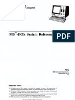 NEC APC MS-DOS System Reference Guide Sep83