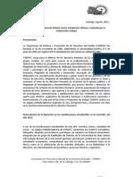 Informe sobre Violencia Policial contra estudiantes chilenos, realizado por la Corporación Codepu
