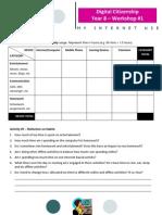 Year 8 - Worksheet #1