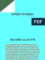Intro to OSHA