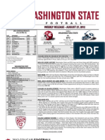 WSU FB Game Notes - Game 1