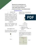 Informe Practica Fotoresitencia Ldr