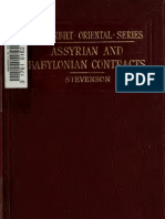 Stevenson. Assyrian and Babylonian contracts; with Aramaic reference notes. 1902.