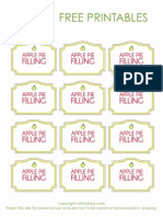 Wh Hostess Apple Pie Filling Label - Free Printables