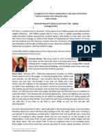 2012 Jessie Street Library Talk - My Involvement with Timor-Leste