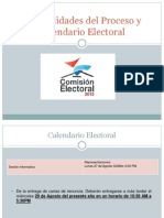 Puntualidades Del Proceso y Calendario Electoral Representaciones
