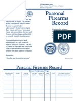 Personal Firearms Record