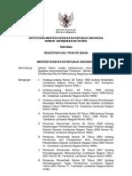 Kepmenkes No. 900 Th. 2002 Ttg Registrasi Praktik Bidan