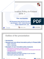 User Innovation Policy in Finland - OUI Harvard Plenary