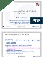 User Innovation Policy in Finland - OUI Harvard Plenary