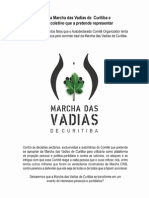Sobre a Marcha das Vadias de Curitiba e sobre o coletivo que a pretende representar