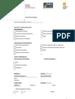 Ficha Datos Curriculum Vitae