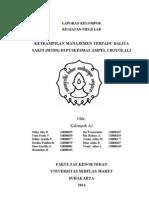 Cover,Pengesahan,Daftar Isi Kel 2 Field Lab