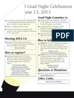 Grad Night 2013 Flyer