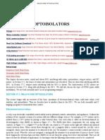 Relays and Optoisolators