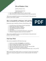 How to Install IIS on Windows Vista