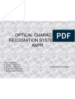 Optical Character Recognition System for Anpr