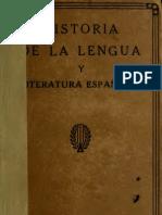 Sanchez Jose Rogerio - Historia De La Lengua Y Literatura Españolas (1921)