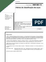 ABNT NBR Nm 172 - Criterios de Classificacao Dos Acos
