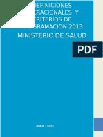 Definiciones Operacionales 2013 Ogpp Fianl Salud Mental