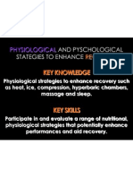 physiological and psychological strategies to enhance recovery