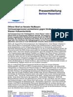 Pressemitteilung vom Berliner Wassertisch vom 28. August 2012