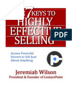 7 Keys to Highly Effective Selling