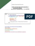 ÁREAS E ELEMENTOS DA DESCRIÇÃO DE DOCUMENTOS