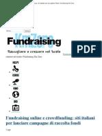 Crowdfunding e Fundraising_ Siti Italiani Per Raccogliere Fondi _ Fundraising Km Zero