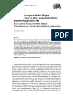 Luebke_Ostmitteleuropa Und Die Steppe (2009)